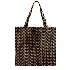 Sparkling Metal Chains 01a Zipper Grocery Tote Bag