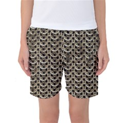 Sparkling Metal Chains 01a Women s Basketball Shorts