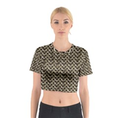 Sparkling Metal Chains 01a Cotton Crop Top