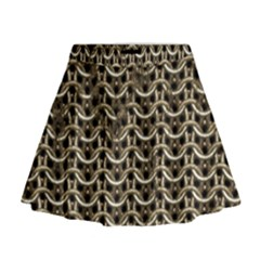 Sparkling Metal Chains 01a Mini Flare Skirt