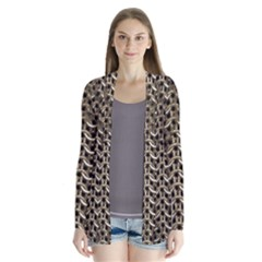 Sparkling Metal Chains 01a Drape Collar Cardigan