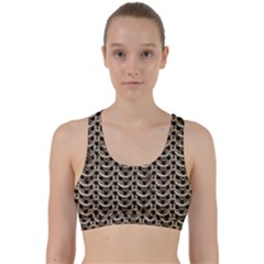 Sparkling Metal Chains 01a Back Weave Sports Bra