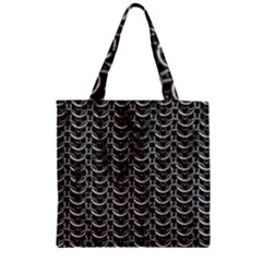 Sparkling Metal Chains 01b Zipper Grocery Tote Bag