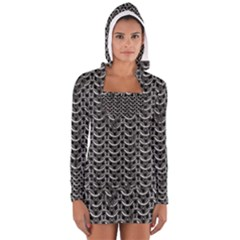 Sparkling Metal Chains 01b Long Sleeve Hooded T Shirt