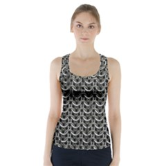Sparkling Metal Chains 01b Racer Back Sports Top