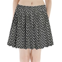 Sparkling Metal Chains 01b Pleated Mini Skirt