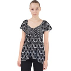 Sparkling Metal Chains 01b Lace Front Dolly Top