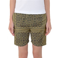 Seamless Pattern Design Texture Women s Basketball Shorts