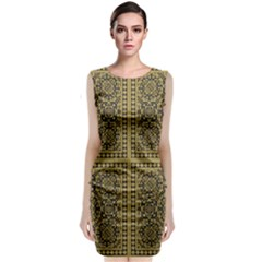 Seamless Pattern Design Texture Classic Sleeveless Midi Dress