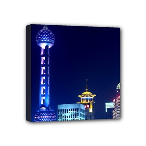 Shanghai Oriental Pearl Tv Tower Mini Canvas 4  X 4