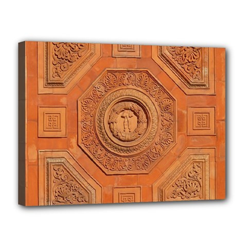 Symbolism Paneling Oriental Ornament Pattern Canvas 16  X 12