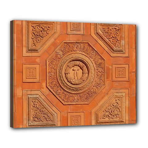 Symbolism Paneling Oriental Ornament Pattern Canvas 20  X 16