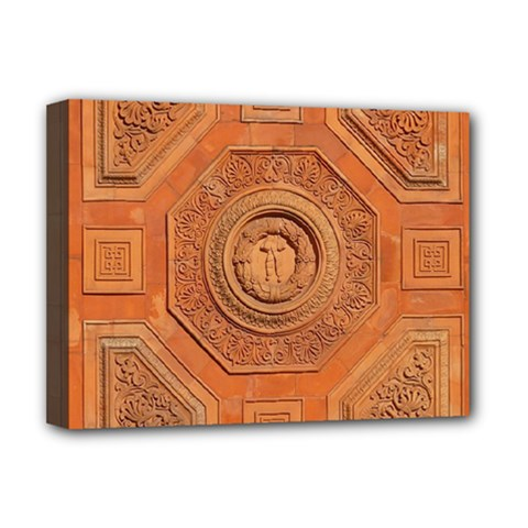 Symbolism Paneling Oriental Ornament Pattern Deluxe Canvas 16  X 12