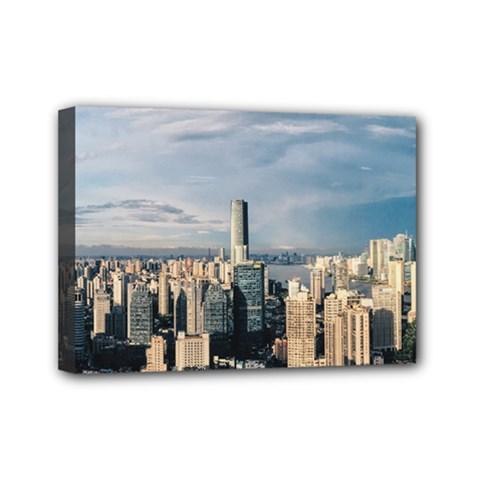 Shanghai The Window Sunny Days City Mini Canvas 7  X 5