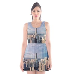 Shanghai The Window Sunny Days City Scoop Neck Skater Dress