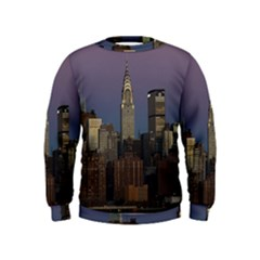 Skyline City Manhattan New York Kids  Sweatshirt