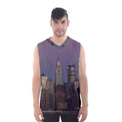 Skyline City Manhattan New York Men s Basketball Tank Top