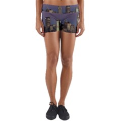 Skyline City Manhattan New York Yoga Shorts