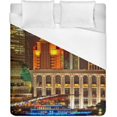 Shanghai Skyline Architecture Duvet Cover (california King Size)