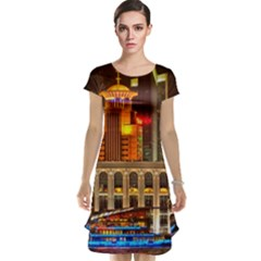 Shanghai Skyline Architecture Cap Sleeve Nightdress