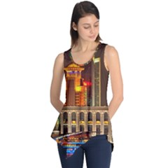 Shanghai Skyline Architecture Sleeveless Tunic