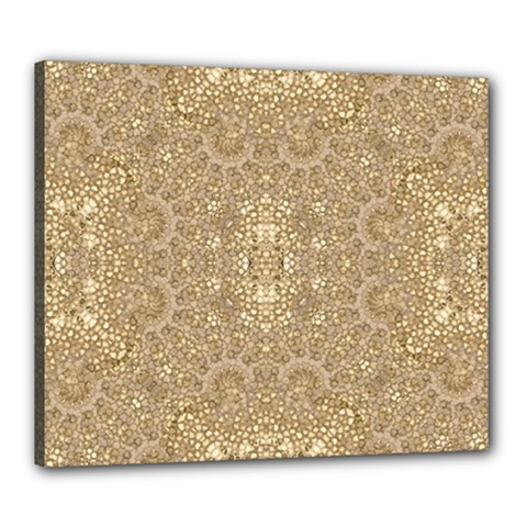 Ornate Golden Baroque Design Canvas 24  X 20