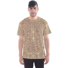 Ornate Golden Baroque Design Men s Sports Mesh Tee