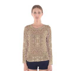 Ornate Golden Baroque Design Women s Long Sleeve Tee