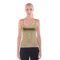 Ornate Golden Baroque Design Spaghetti Strap Top