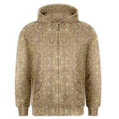 Ornate Golden Baroque Design Men s Zipper Hoodie