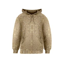 Ornate Golden Baroque Design Kids  Zipper Hoodie