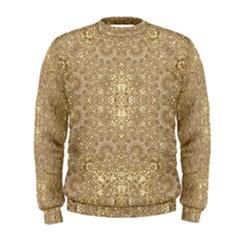 Ornate Golden Baroque Design Men s Sweatshirt