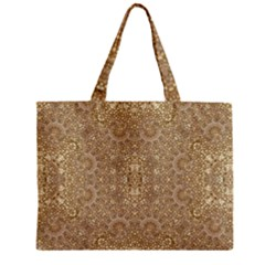 Ornate Golden Baroque Design Zipper Mini Tote Bag