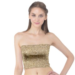 Ornate Golden Baroque Design Tube Top