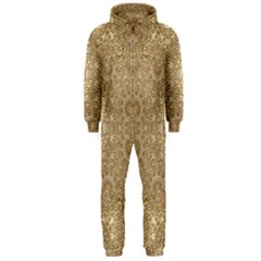 Ornate Golden Baroque Design Hooded Jumpsuit (men)