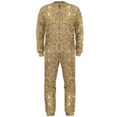 Ornate Golden Baroque Design Onepiece Jumpsuit (men)