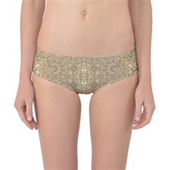 Ornate Golden Baroque Design Classic Bikini Bottoms