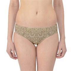 Ornate Golden Baroque Design Hipster Bikini Bottoms