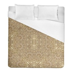 Ornate Golden Baroque Design Duvet Cover (full/ Double Size)