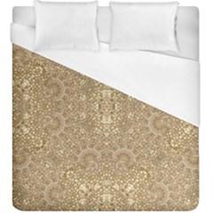 Ornate Golden Baroque Design Duvet Cover (king Size)