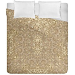 Ornate Golden Baroque Design Duvet Cover Double Side (california King Size)