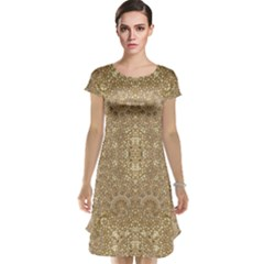 Ornate Golden Baroque Design Cap Sleeve Nightdress