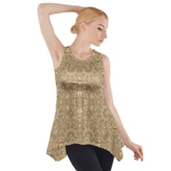 Ornate Golden Baroque Design Side Drop Tank Tunic