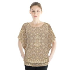 Ornate Golden Baroque Design Blouse