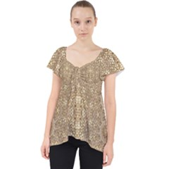 Ornate Golden Baroque Design Lace Front Dolly Top