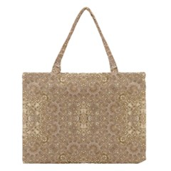 Ornate Golden Baroque Design Medium Tote Bag
