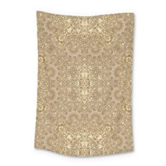 Ornate Golden Baroque Design Small Tapestry