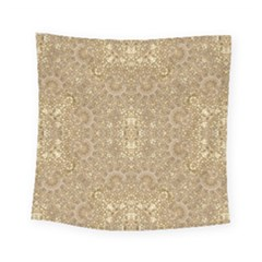 Ornate Golden Baroque Design Square Tapestry (small)