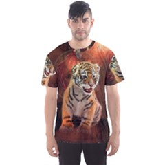 Cute Little Tiger Baby Men s Sports Mesh Tee