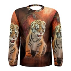 Cute Little Tiger Baby Men s Long Sleeve Tee